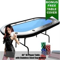 Enduro Nevada 84-Inch (2m) Foldable Poker Table - Blue