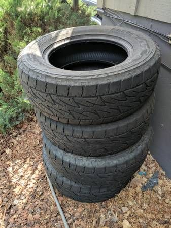 4 truck tires for sale – auto parts – by owner