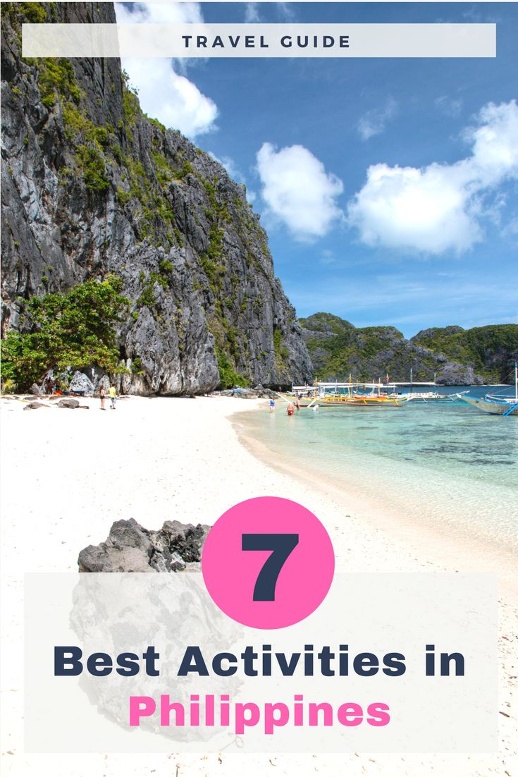 Complete travel guide to the Philippines. It shows you 7 places/activities you must visit in the Philippines. These islands are home to white sand beaches, best spots for watching underwater life, huge vulcanos and much more.