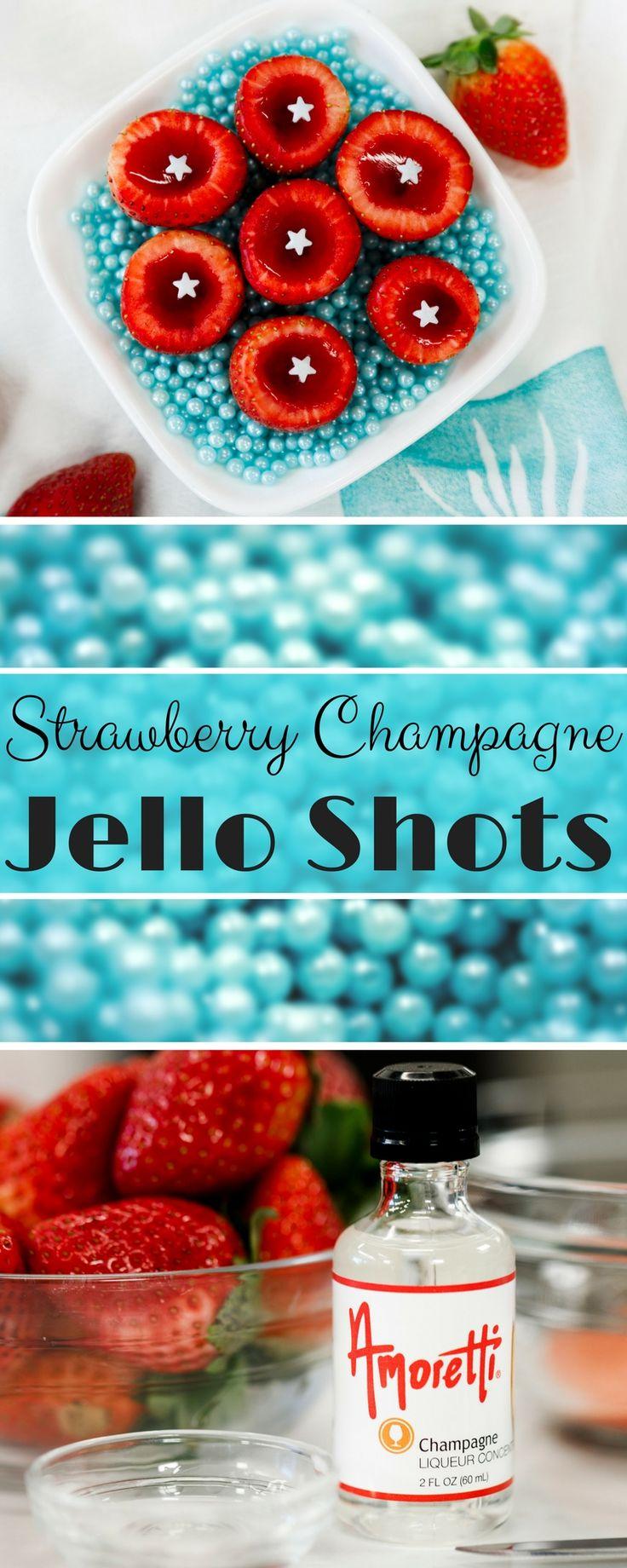 Strawberry Champagne Jello Shots Recipe