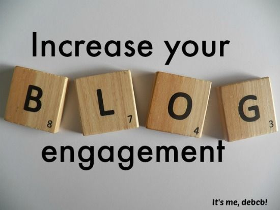 Want more comments and interaction on your blog posts? Here are some great blogging tips. Increase your blog engagement- It's me, debcb