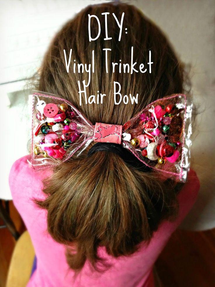 WhiMSy love: DIY: Vinyl Trinket Hair Bow