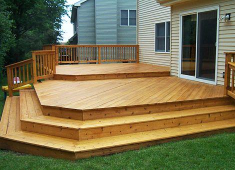 Garden Ideas On Two Levels 27 best decks images on pinterest | backyard ideas, backyard decks