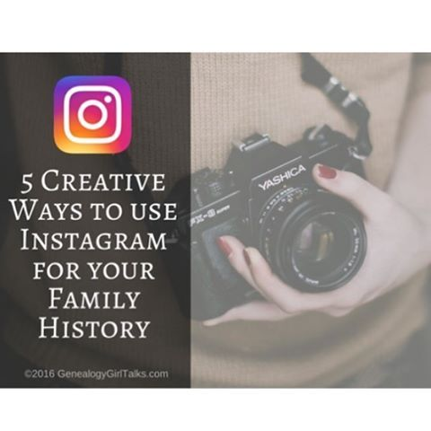 New Blog Post at GenealogyGirlTalks.com // 5 Creative Ways to use Instagram for your Family History! • #instagramforfamilyhistory #genealogy #familyhistory #familytree #getcreative #genealogygirltalks