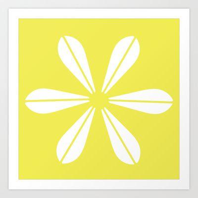 LOTUS MINIMAL - Vanilla cream. Art Print by The Bearded Bird. - $14.00