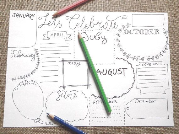 celebrate bullet bujo journal birthday anniversary blank boxes printable planner layout template home organizer download lasoffittadiste