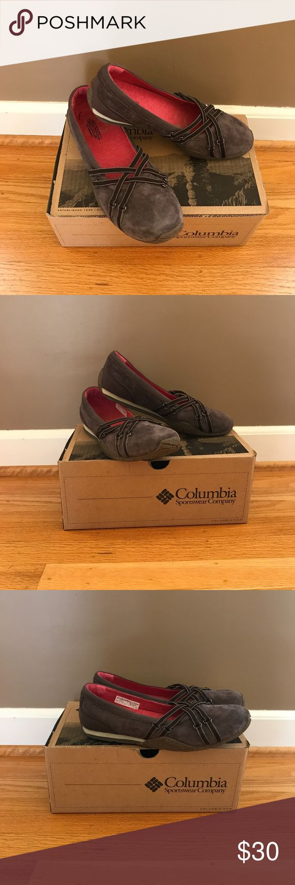 """Columbia Sportswear Company """"Kaci 2"""" Flat The Kaci 2 flat features an Omni-tech water-resistant full grain and suede leather upper with an EVA midsole. Non-marking Omni-Grip rubber sole provides reliable durability and traction. Color: stout, popsicle. This flirty flat is the perfect choice for daily excursions as well as weekend getaways. Outfit yourself for everyday adventure with these cute and comfy shoes!  Brand new, never been worn! Columbia Shoes Flats & Loafers"""