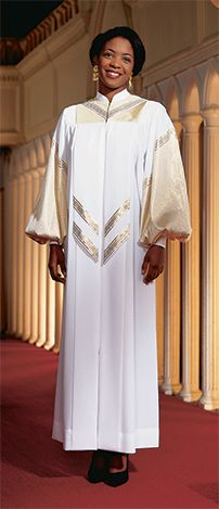 For a glittering performance, consider the elegant VANDA choir robe, which was designed to coordinate with the coordinating 753 Overlay, priced separately. Choose your own colors, fabrics, and optional embroidered letters or symbols to create a look that is worth celebrating.