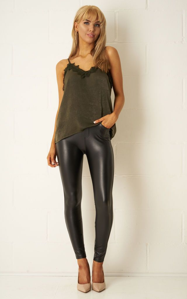 c71f6ce67f728b Taylor Black Stretch Leather Look Jeans By Frontrow Limited in 2019 ...
