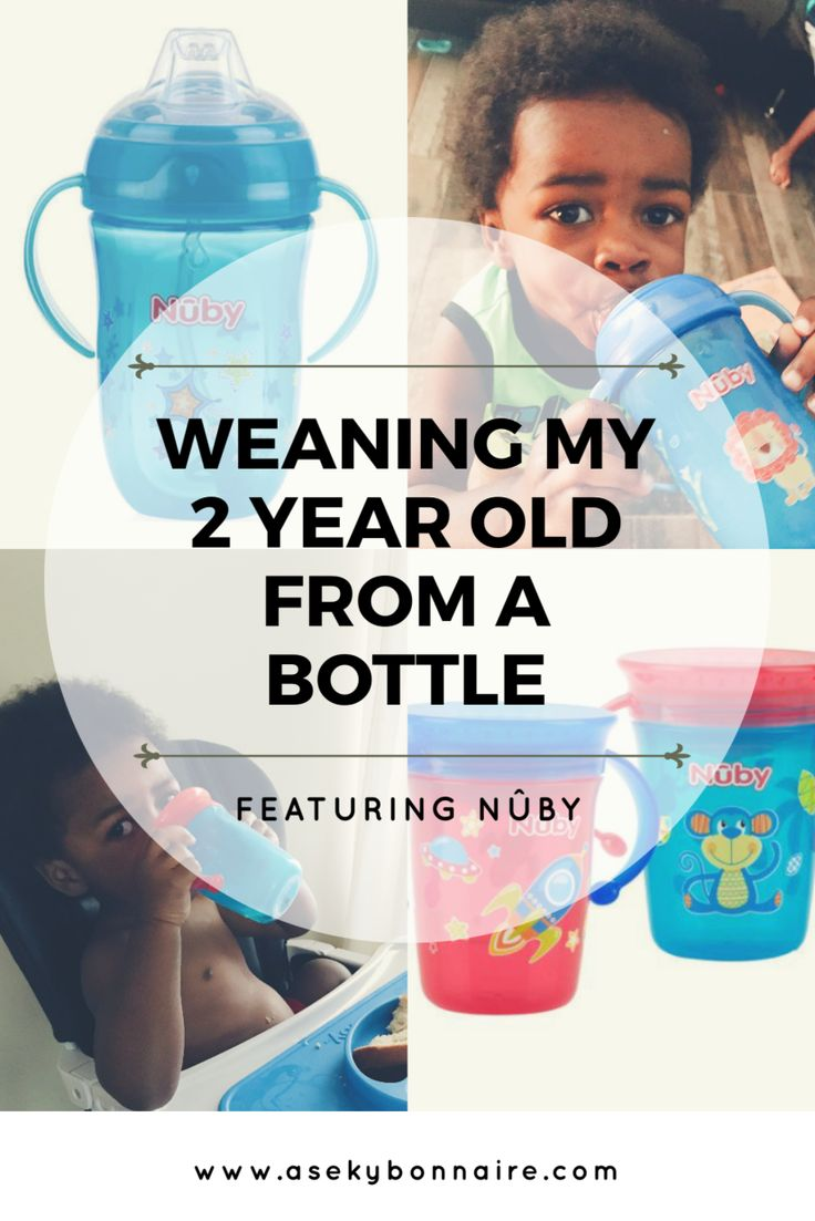How to wean toddler from bottle. We weaned our 2 year old from the bottle and on to a sippy cup. It was an easy transition thanks to our Nuby 360 miracle cup, and the Nuby 360 Comfort Wonder cup.
