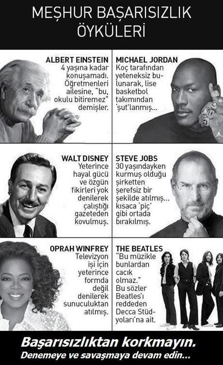 başarı pes edenlerin öyküsü degildir