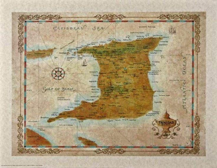 Antique style TRINIDAD MAP