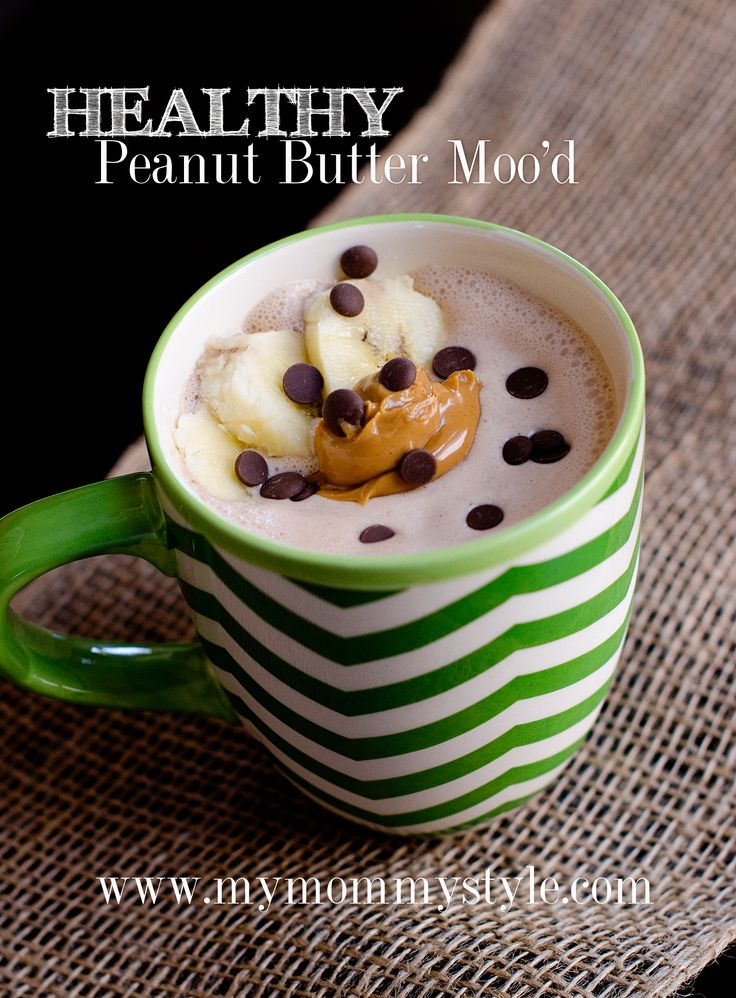 HEALTHY Peanut butter Moo'd Smoothie Recipe with protein | My Mommy Style Recipes | Pinterest ...