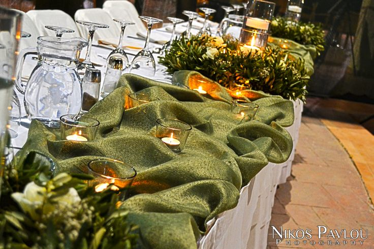 Bridal table decoration