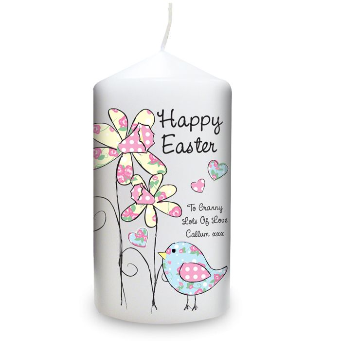 29 best easter gift ideas not just chocolate images on pinterest easter gift ideas personalised daffodil floral chick easter candle easter gift 899 negle Images