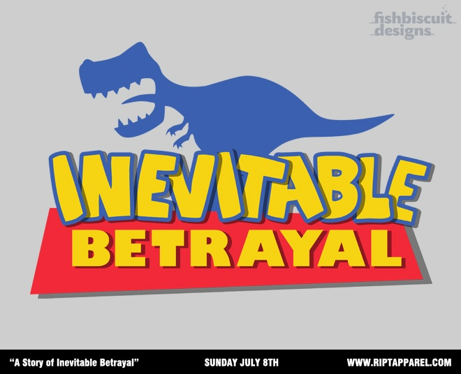 """""""A Story of Inevitable Betrayal"""" by fishbiscuit  $10 Sunday July 8th only at www.riptapparel.com.: Fishbiscuit, Fireflies, Toy Story Firefly Serenity, Curse, Inevitable Betrayal, T Shirts, Toystory, Geeky Stuff, Firefly Toy Story"""