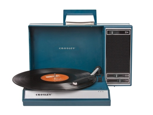 I love the throwback style of the Spinnerette by Crosley. It offers that cool retro vibe, is easy to tote around (perfect for the cabin!), and should you want to hook up your MP3 player, it also works as speakers.