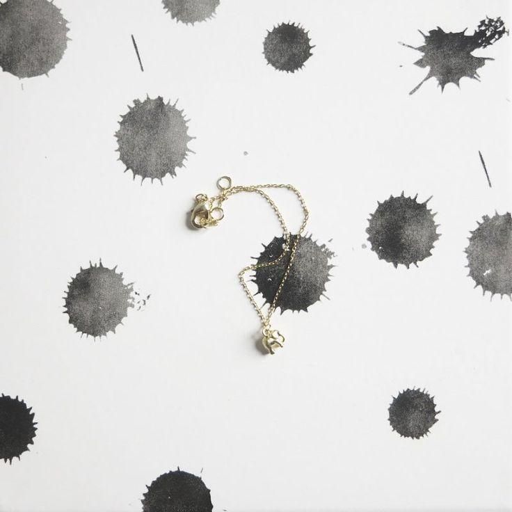 ALYSS – Gouden armband olifant