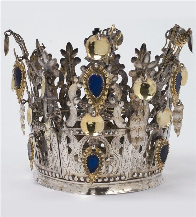 Norwegian brudekrone (bridal crown) 1850