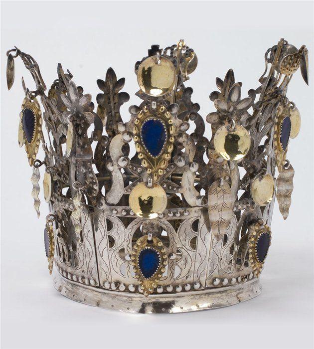Norwegian brudekrone (bridal crown) 1850