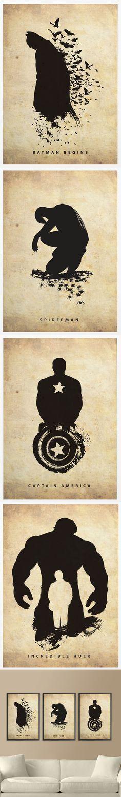Idée à mettre sur nos galeries de murs, pour les fans de super héros ✔