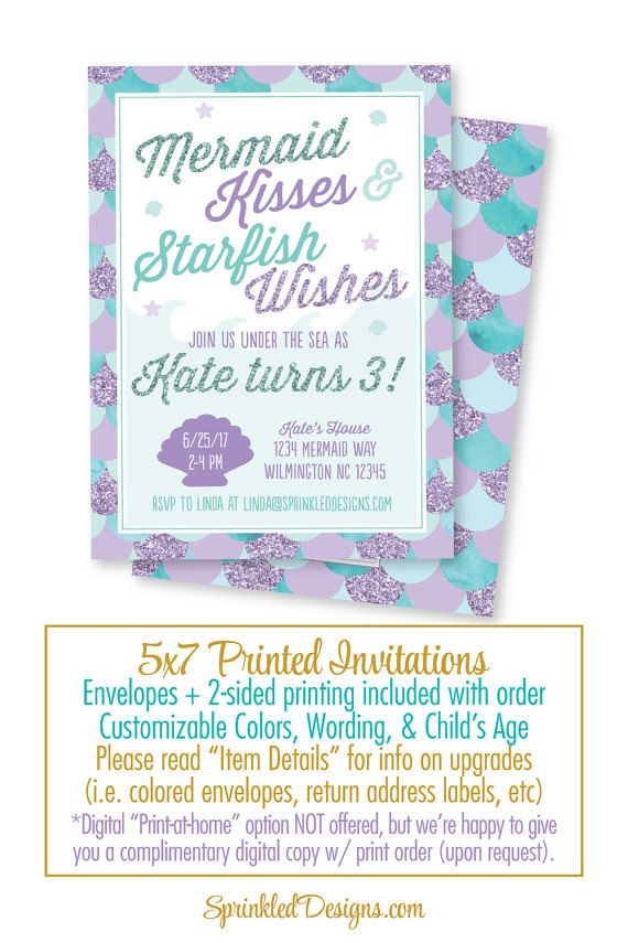 Best 20 Mermaid Party Invitations ideas – Party Invite Text