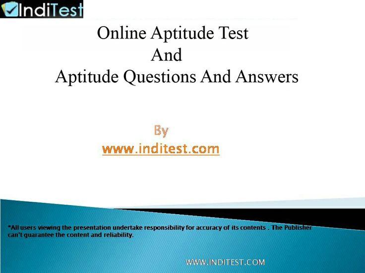 Best 25+ Job aptitude test ideas on Pinterest Career aptitude - aptitude test free