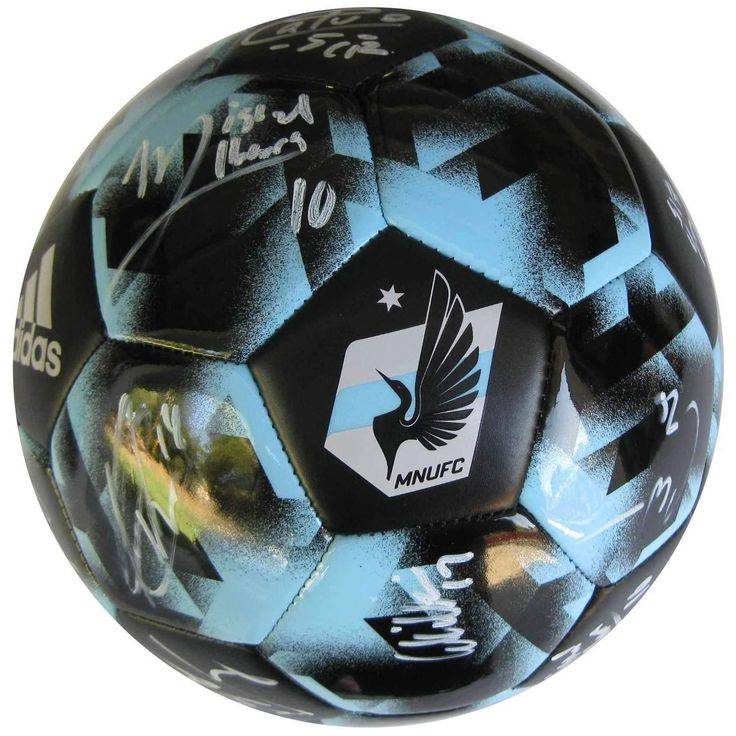 2017 Minnesota united FC, Team, Signed, Autographed, Logo Soccer Ball,