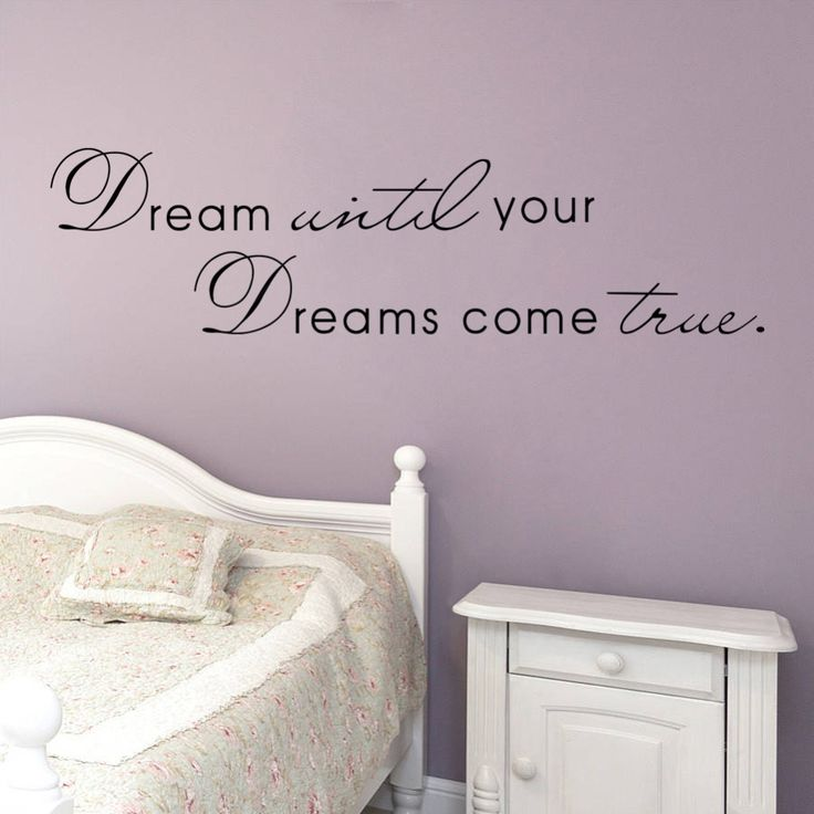Dream Until Your Dreams Come True Wall Quote Decal //Price: $ 9.95 & FREE shipping //  #interiordesign #interior #walldecal #wallsticker #wallstickermurah #decor #walldecor #walldecals #homedecor #wallart #design #decor #wallstargraphics