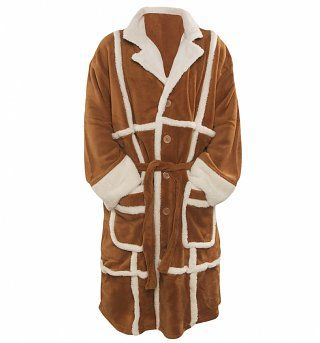 Men's Only Fools and Horses Del Boy Parker Fleece Dressing Gown