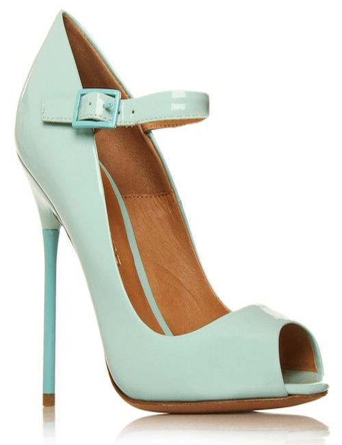 different designed mint green high heel shoes for women by Kurt Geiger