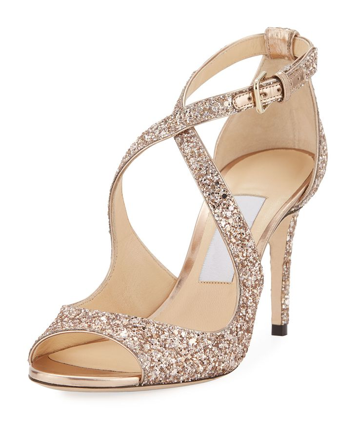 Jimmy Choo sandals with glitters and  85mm heel.