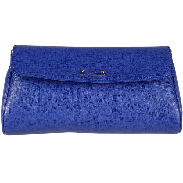 Fendi Clutches found on Polyvore featuring bags, handbags, clutches, blue, blue purse, fendi clutches, fendi, fendi handbags and blue handbags
