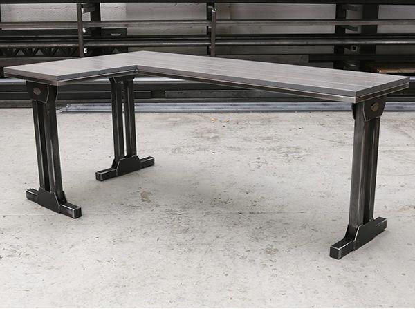 The Studio Side Table Industrial Oak Steel Steel Vintage Industrial Design Furniture Industrial Furniture Furniture