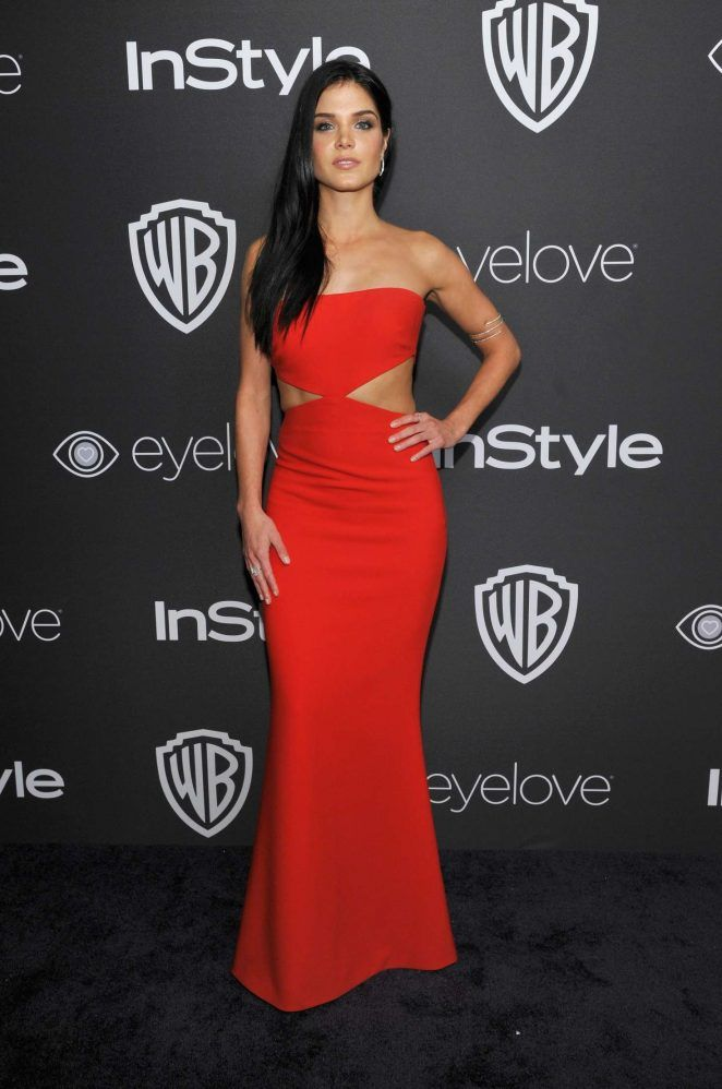 Marie Avgeropoulos – 2017 InStyle and Warner Bros Golden Globes After Party in LA