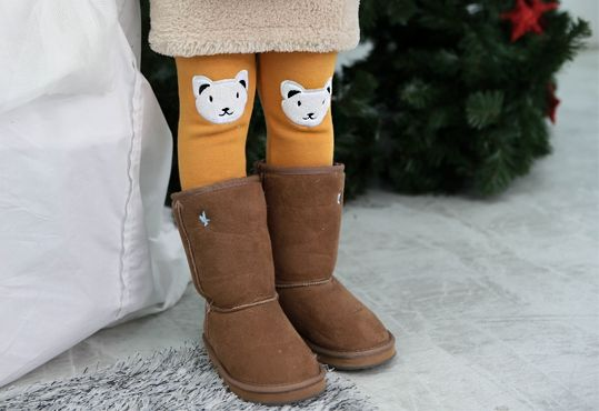 Korea children's No.1 Shopping Mall. EASY & LOVELY STYLE [COOKIE HOUSE] Cutie Bear Mink Fur Leggings / Size : 7-13 / Price : 15.01 USD #cute #koreakids #kids #kidsfashion #adorable #COOKIEHOUSE #OOTD #leggings