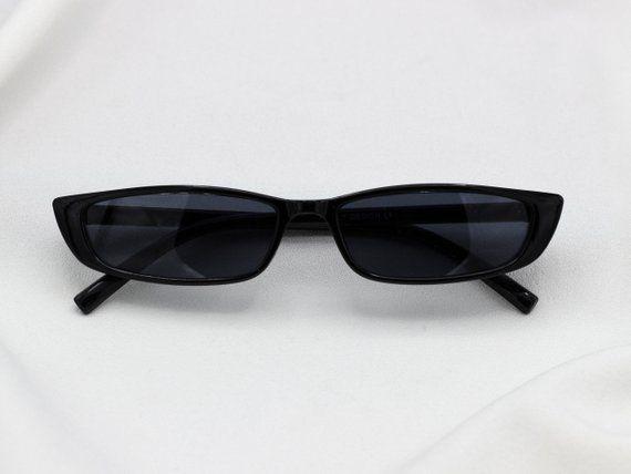 Vintage Skinny Sunglasses Cateye Flat