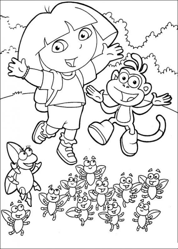 Dora and friends coloring pages nick ~ 67 best images about Nick Jr. Coloring Pages on Pinterest ...
