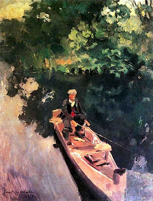 bofransson:  In the boat - Konstantin Korovin, 1915