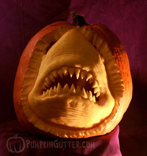 This takes a lot of pumpkin carving skill, and we love it!