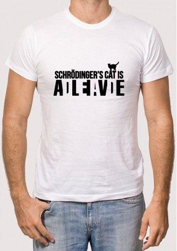 Camiseta Gato Schrodinger. El gato de Schrödinger ¿Vivo o muerto?