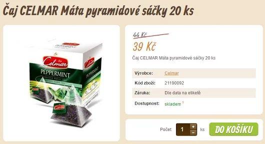Čaj CELMAR Máta pyramidové sáčky 20 ks  https://www.vito-grande.cz/p/caj-celmar-mata-pyramidove-sacky-20-ks