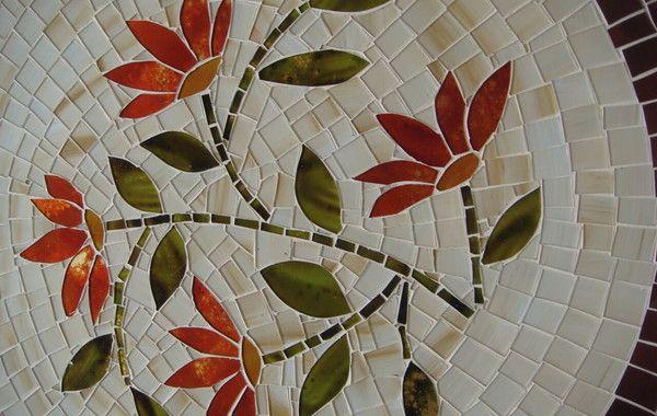 Centro De Mesa Giratorio 60 Cm Mosaico De Vidro Com Imagens