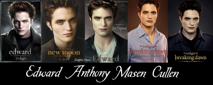 Edward from Twilight to Breaking Dawn Part 2