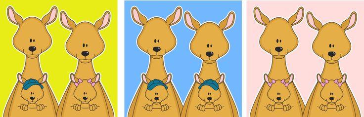 Tweeling geboren! Lieve kangoeroes.