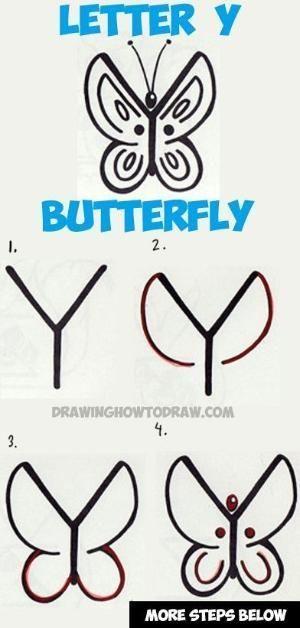Letter Y Butterfly