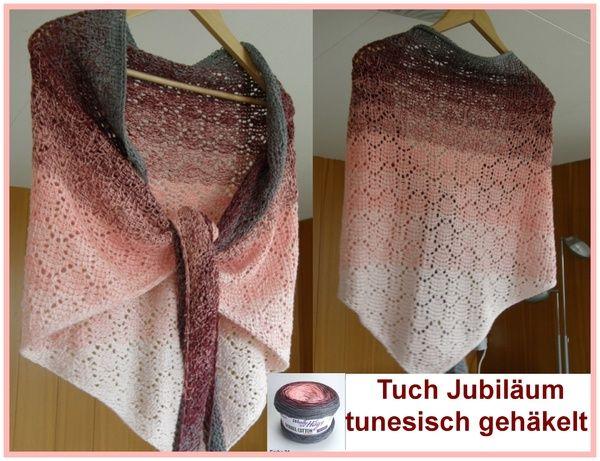 Tunesisch gehäkelte Tücher findet man noch nicht viele. Dieses hier ist im luftigen Ajourmuster gearbeitet. Die Anleitung enthält einen ausführlichen, reich bebilderten Workshop für die Tunesischen Häkel-Grundlagen. Material: Woolly Hugs BOBBEL-COT