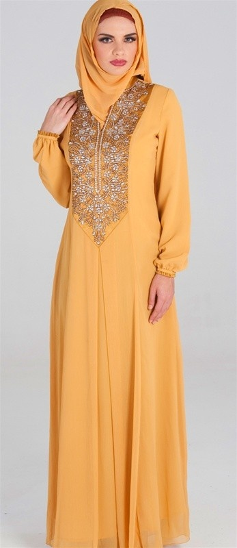 The Marianne Long Formal Caftan Dress with FREE Wrap- Islamic formal dresses- Islamic clothing at Artizara.com