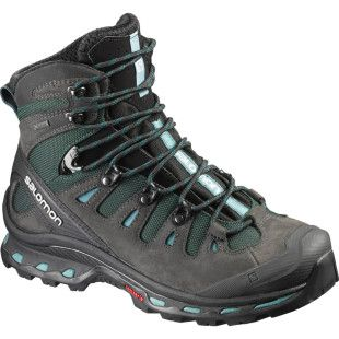 Salomon Quest 4D 2 GTX Womens Hiking Boots - Asphalt Green Black Haze Blue