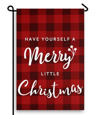 Another great find on #zulily! 'Merry Little Christmas' Outdoor Flag #zulilyfinds